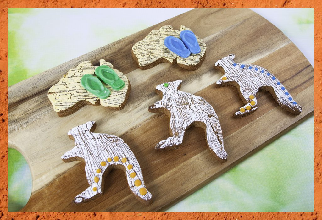 Australia Day Cookies with Cake Crack Finish