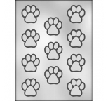1 1/2 Paw Print chocolate mould