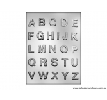 1 ALPHABET chocolate / gumpaste mould