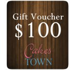 $100.00 Gift Certificate For Cakes Around Town