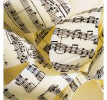 Music Notes Chocolate Transfer Sheet