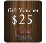 $25.00 Gift Certificate For Cakes Around Town