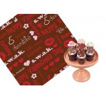 Valentine Kisses (red and white) Chocolate Transfer Sheet