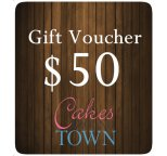$50.00 Gift Certificate For Cakes Around Town