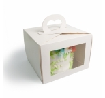 8 Window Cake Box with handle - Single price
