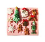 Christmas Assortment with SNOWFLAKES Silicone Mould