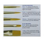 PME Craft Brushes Set of 5