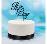 Acrylic Cake Topper (Black)  - It\'s a Boy