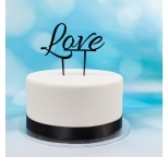Acrylic Cake Topper (Black) - LOVE