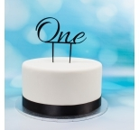 Acrylic Cake Topper (Black)  - One