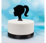 Acrylic Cake Topper (Black)  - Barby - DISCONTINUED