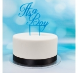 Acrylic Cake Topper (Blue)  - It\'s a Boy