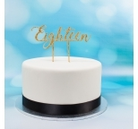 Acrylic Cake Topper (Gold)  - Eighteen