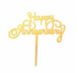 Acrylic Cake Topper (Gold) - HAPPY ANNIVERSARY