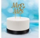 Acrylic Cake Topper (Gold)  - Mr & Mrs