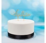 Acrylic Cake Topper (Gold)  - Sixteen