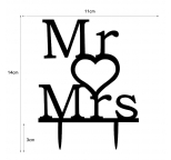 Acrylic Cake Topper - Mr ♥ Mrs