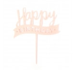 Acrylic Cake Topper (Pink)  - Happy Birthday