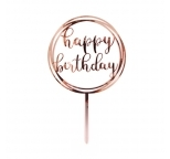 Acrylic Cake Topper Rose Gold- Happy Birthday