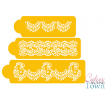 Alencon Lace SET of 3 Cake Stencil