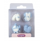 Baby Assortment Blue Sugar Decorations (12)