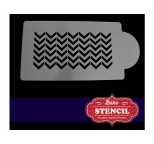 Chevron Side Cake Stencil
