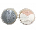 Bride & Groom Cupcake Mould - DISCONTINUED