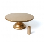 Brushed Gold Cake Stand - 11.5 diameter