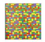 Lego Building Block Pattern MDF Cake Board - 10 square