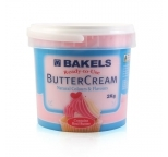 Buttercream Icing Ready To Use - Baby Pink Vanilla by Bakels 2kg - BEST BEFORE