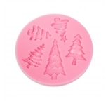 Christmas Tree Silicone Mould 5 Cavities