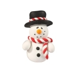 Claydough Snowman with Top Hat 50mm