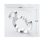 Cookie Cutter - Cartoon Dinosaur 3.25