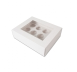 MEDIUM Cupcake Box - with insert & window (holds 12)