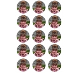 Custom Print 15 Cupcake Toppers  Edible Image Sheet