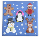 Cute Christmas Characters Patchwork Cutters & Embosser