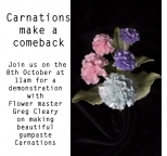 DEMO Saturday 8th October  - Carnations are making a comeback!