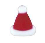 Edible Cupcake Decorations Santa Hats BULK Box 128