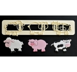 FMM Cute Farm Animals Tappits Set