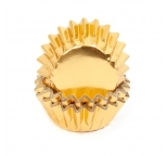 Foil MINI cupcake cases - GOLD (H:20mm) (35)