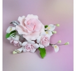 Gumpaste Flower Bouquet - Pale Pink Roses & Lillies