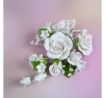 Gumpaste Flower Bouquet - White Roses