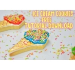 Ice-Cream Cookies Tutorial Supply List and FREE Tutorial Download