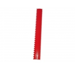 Red Plastic Scraper Ruler - 30cm