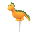 Claydough Cake Topper Dinosaur Orange