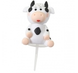 Claydough Cow Cake Topper