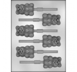 Cute Teddy Bear Lollipop Chocolate Mould