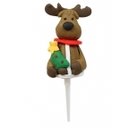 Claydough Reindeer Cake Topper  with Tree