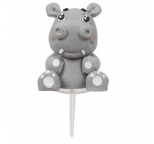Claydough Cake Topper Happy Hippo