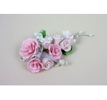 Gumpaste Flower Bouquet -Small Pink Spray - PICK UP ONLY